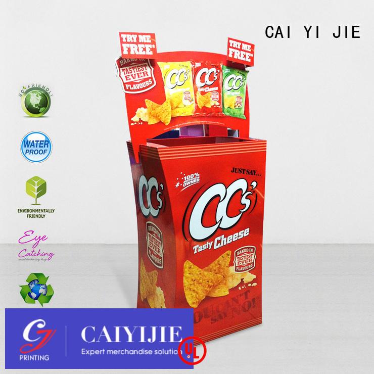 Hot cardboard dump bins for retail printing dumpbin daily CAI YI JIE