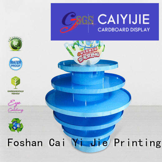 cardboard install CAI YI JIE cardboard pallet display