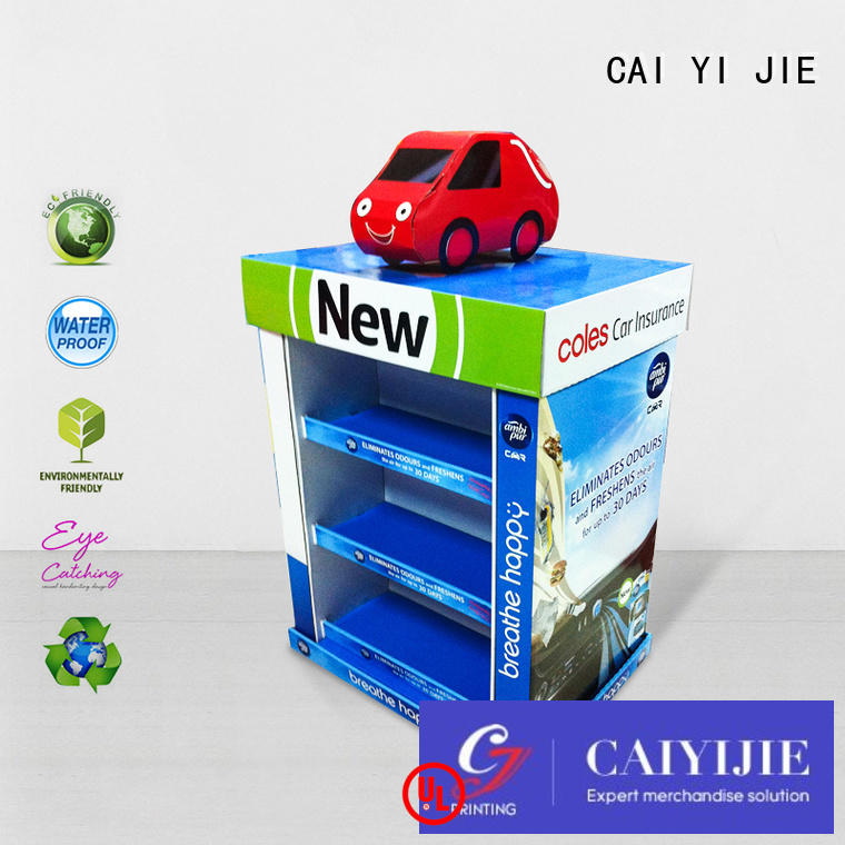 CAI YI JIE easy installation corrugated pallet display clip for shop