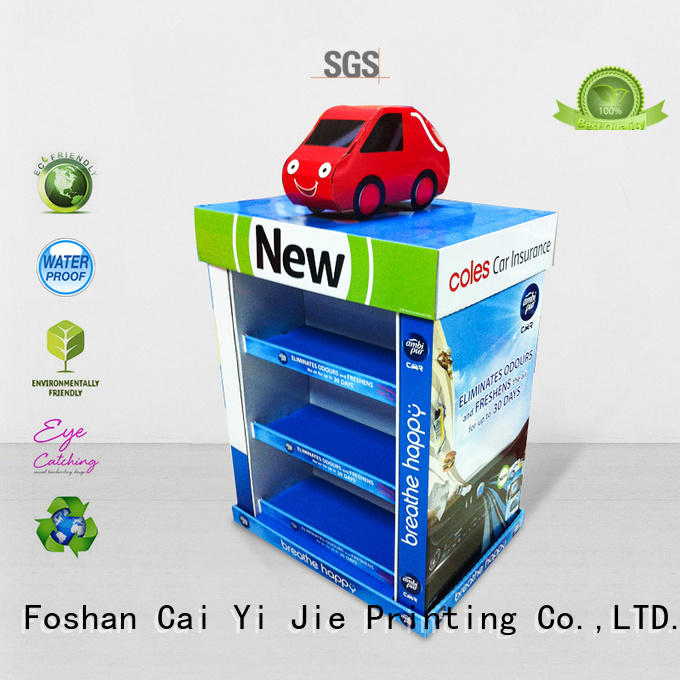pallet cardboard paper stand for chain store CAI YI JIE