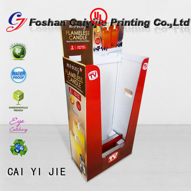 CAI YI JIE cardboard bins for sale dumpbin for displays cheese