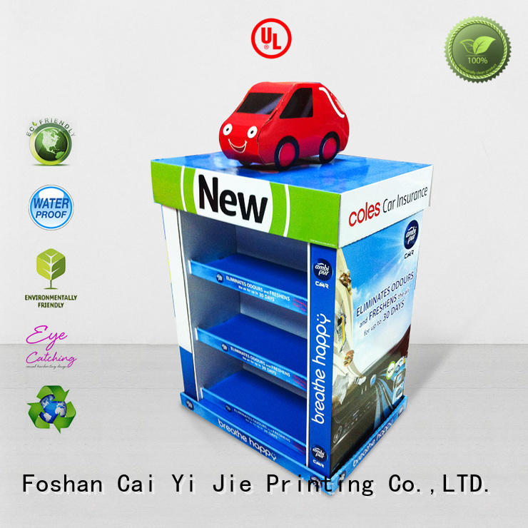 CAI YI JIE plastic pallet cardboard paper stand for stores
