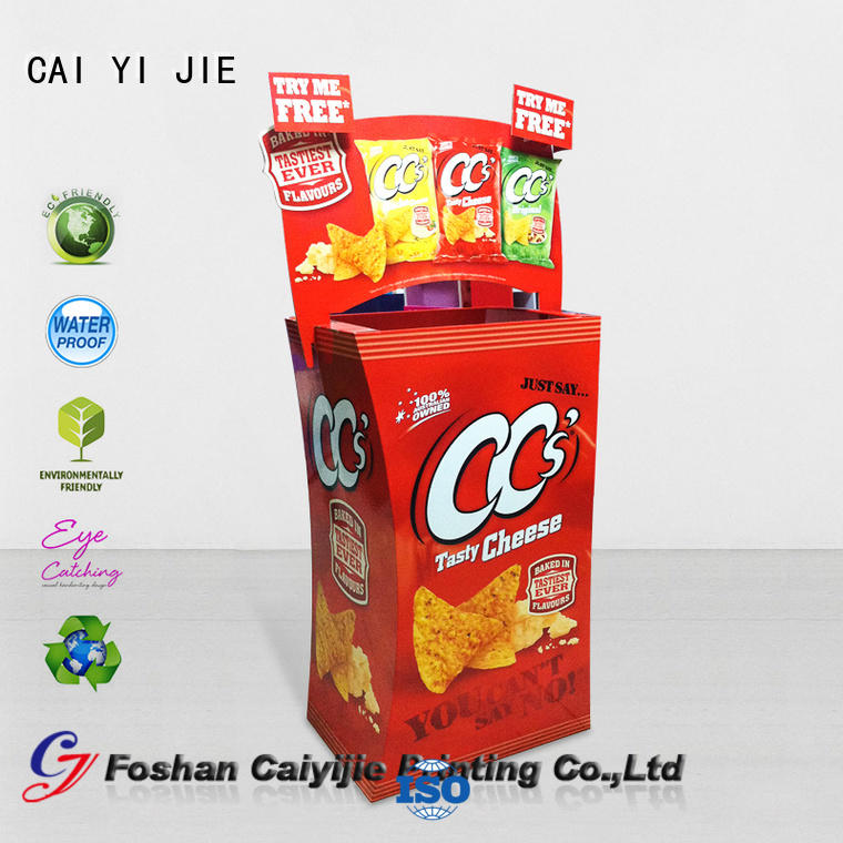 best quality cheap dump bins printing corrugated display for retail product