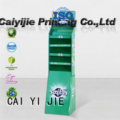 corrugated cardboard card display step