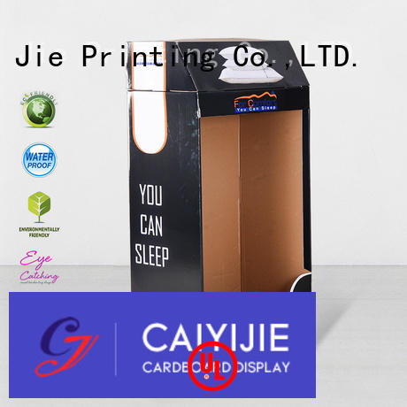 large floor cardboard greeting card display stand CAI YI JIE