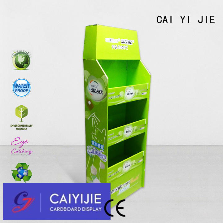 Wholesale retail cardboard pallet display CAI YI JIE Brand
