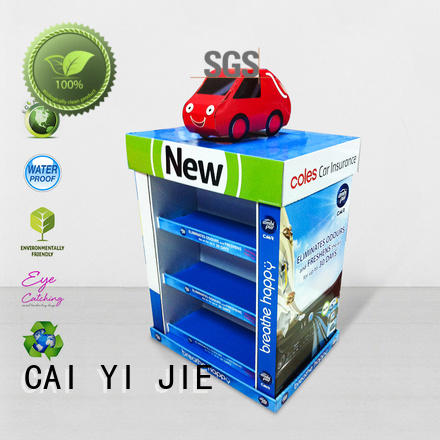 advertising product cardboard pallet display mobile sales CAI YI JIE Brand