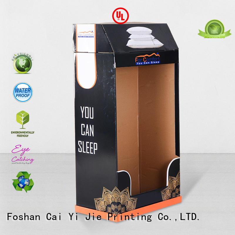 corrugated tube cardboard stand printing CAI YI JIE Brand company
