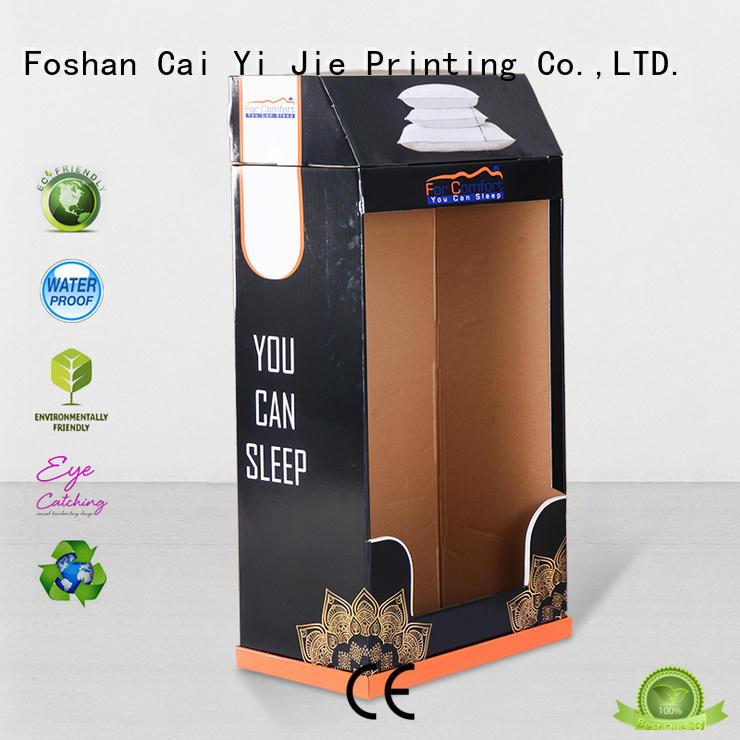 CAI YI JIE plastic cardboard cardboard stand stores displays