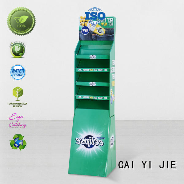 super cardboard book display stand lion for kitchen supplies CAI YI JIE