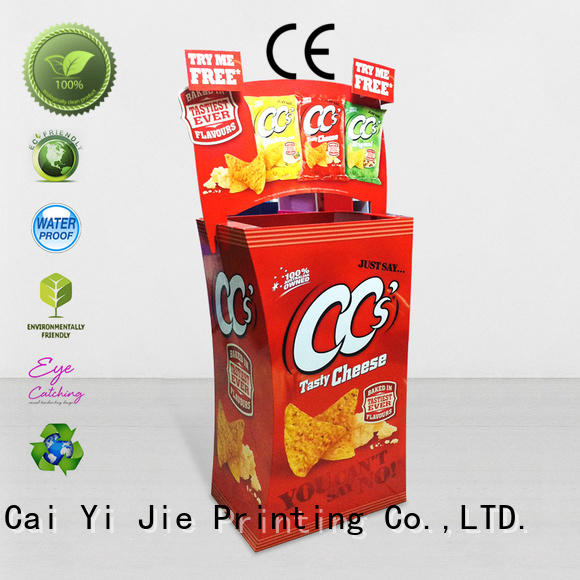 CAI YI JIE high-end cardboard bins for sale floor standing for retail product