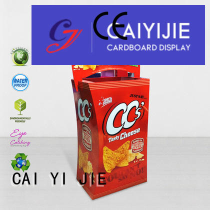 CAI YI JIE commodities color displays cardboard dump bins for retail removable