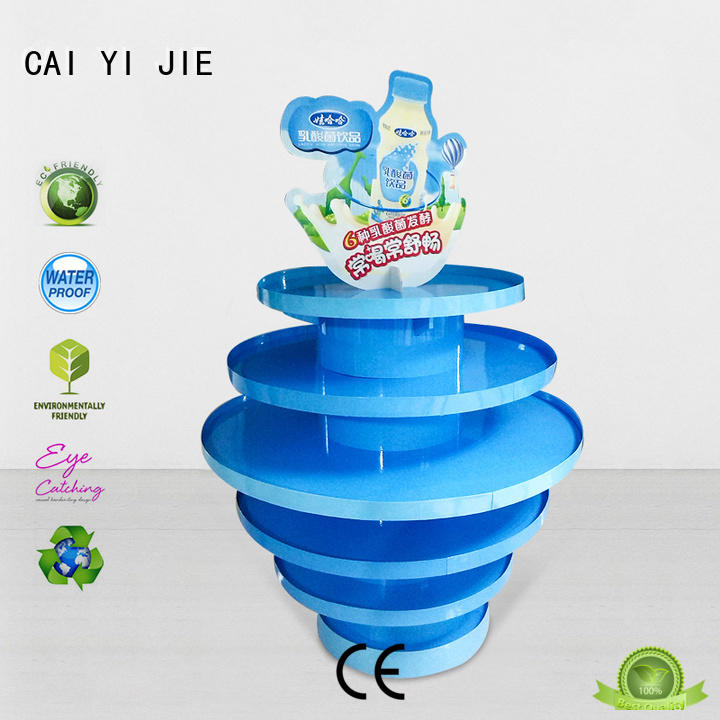 CAI YI JIE pallet display paper stand for chain store