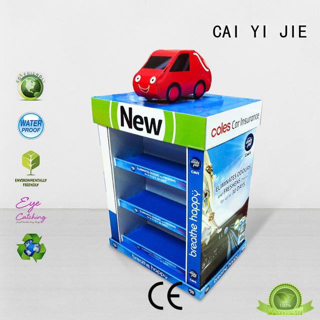 plastic cardboard pallet display for shop