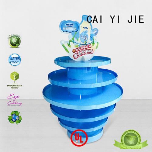 CAI YI JIE Brand sales plastic stands cardboard pallet display