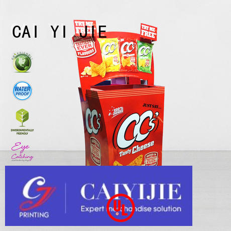 CAI YI JIE Brand commodities cardboard dump bins for retail corrugated supplier