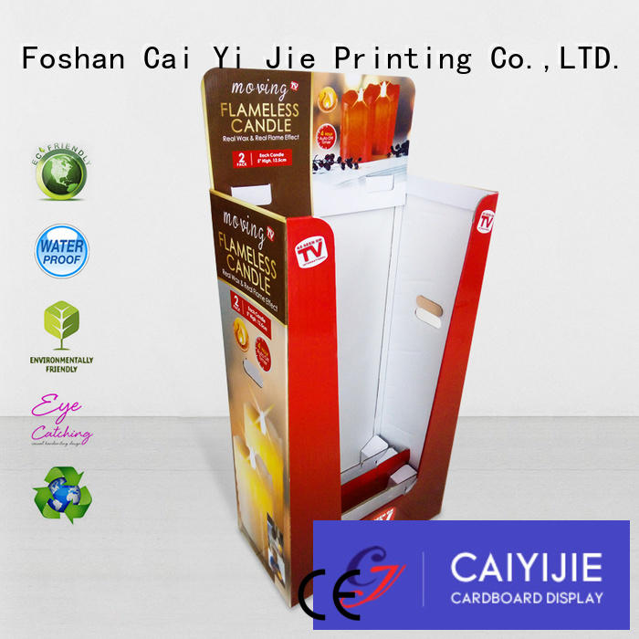 printing cardboard color cardboard dump bins for retail CAI YI JIE