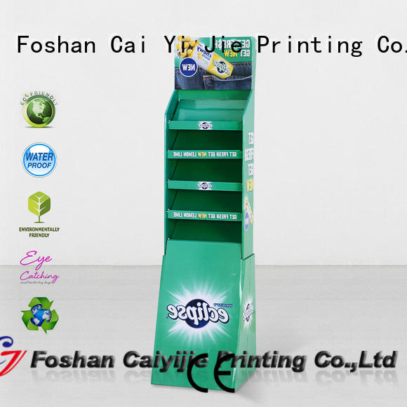 CAI YI JIE cardboard poster stand fashion for socket selling