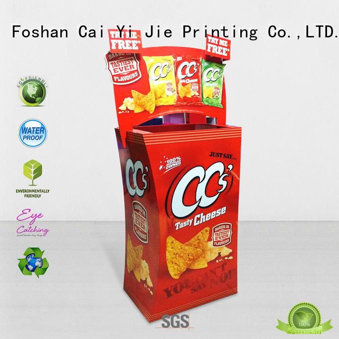 CAI YI JIE hot-sale cardboard bins floor standing for commodities