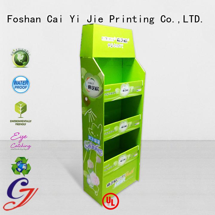 Custom pallet display pallet advertising retail CAI YI JIE