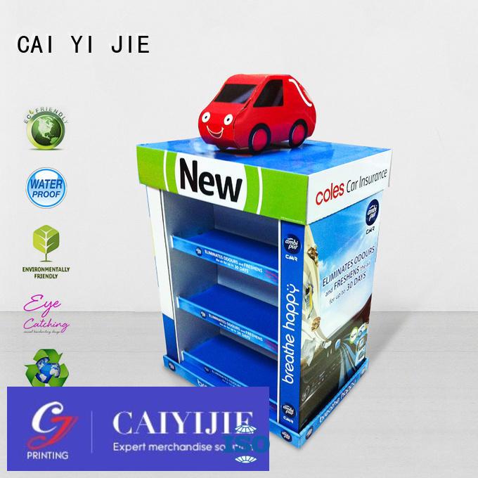 cardboard display rack carton for stores CAI YI JIE