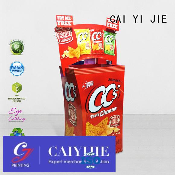 CAI YI JIE Brand corrugated merchandising custom cardboard dump bins for retail