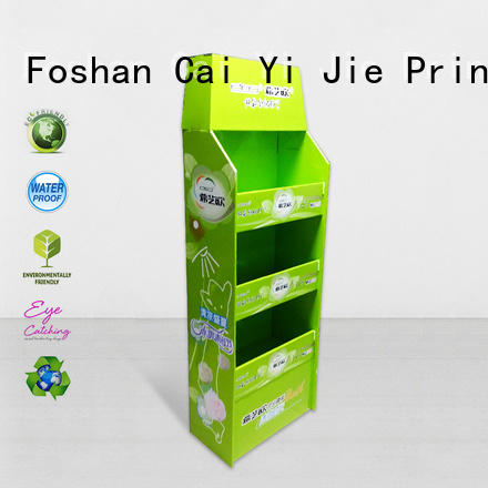 CAI YI JIE advertising cardboard pallet display for stores