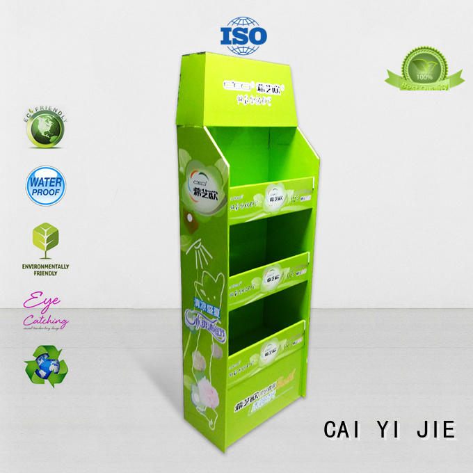CAI YI JIE promotional pallet display pallet stands for stores