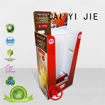 cardboard dump bins for retail dumpbin printing CAI YI JIE Brand company