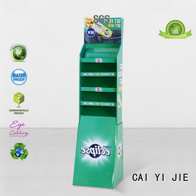 CAI YI JIE super cardboard display stair for kitchen supplies