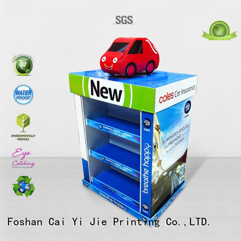 cardboard pallet display square CAI YI JIE Brand pallet display