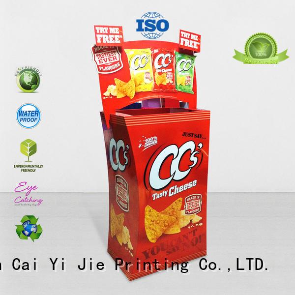 CAI YI JIE hot-sale corrugated dump bins printing corrugated display for displays cheese