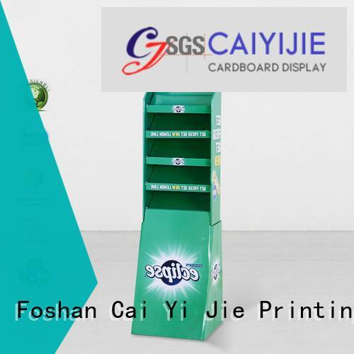 Artwork required Supply ability cardboard greeting card display stand CAI YI JIE