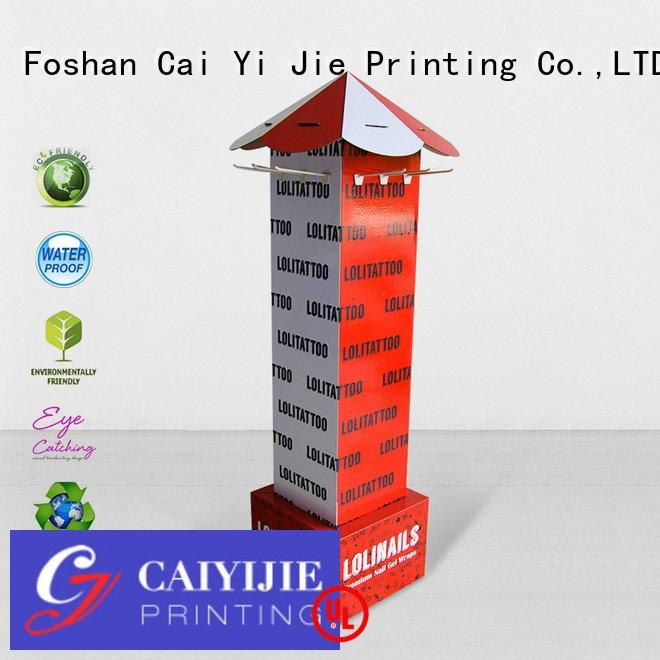 counter hook display stand stair CAI YI JIE Brand hook display stand
