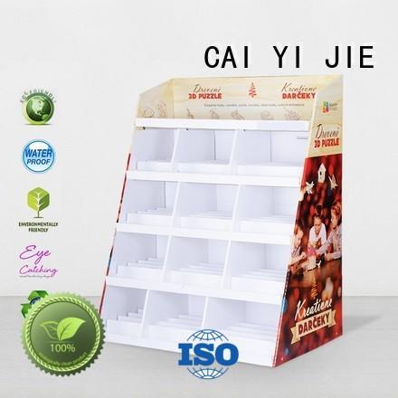 stair floor display retail for beer CAI YI JIE