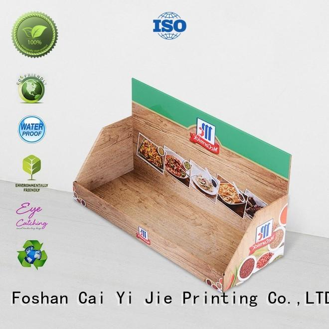 cardboard counter display boxes custom for units chain CAI YI JIE