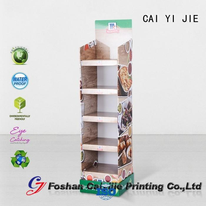stainless tube cardboard retail display layers