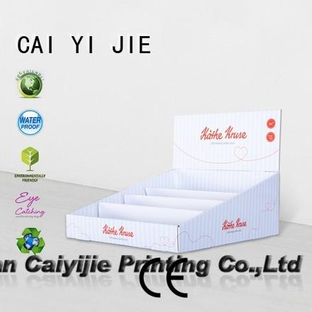 custom cardboard counter displays cardboard marketing cardboard display boxes sale CAI YI JIE Brand