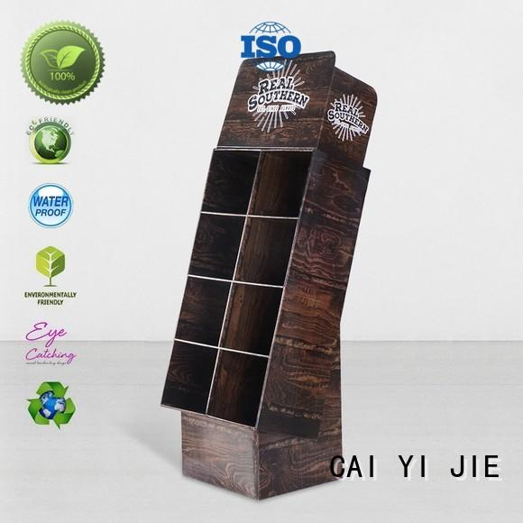 cardboard greeting card display stand corrugated sale stand Warranty CAI YI JIE