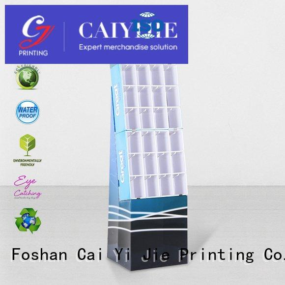 CAI YI JIE Brand marketing counter hook display stand cardboard hook
