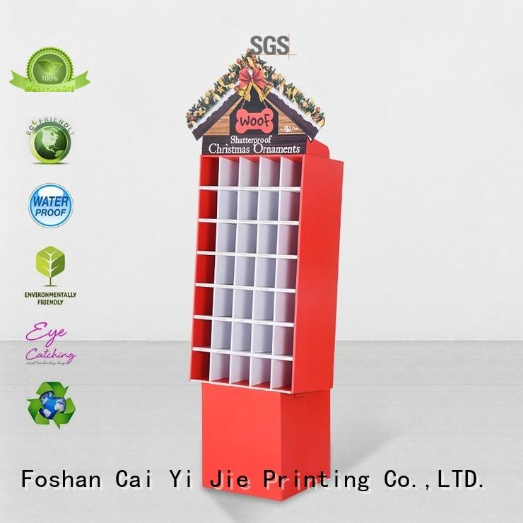 CAI YI JIE Brand promotional cardboard greeting card display stand stands supplier