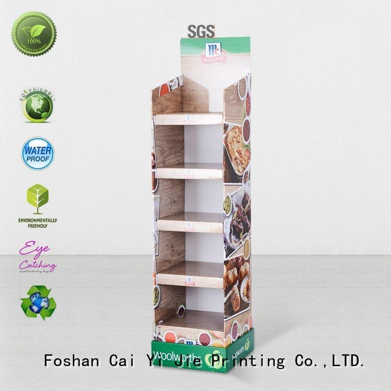 Quality CAI YI JIE Brand cardboard greeting card display stand space large