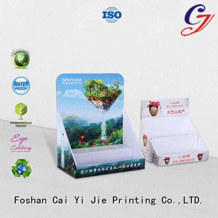 CAI YI JIE cardboard display boxes grocery sale products printed