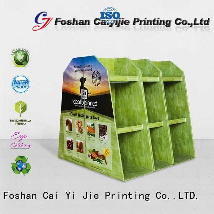 easy installation pallet display paper stand for stores
