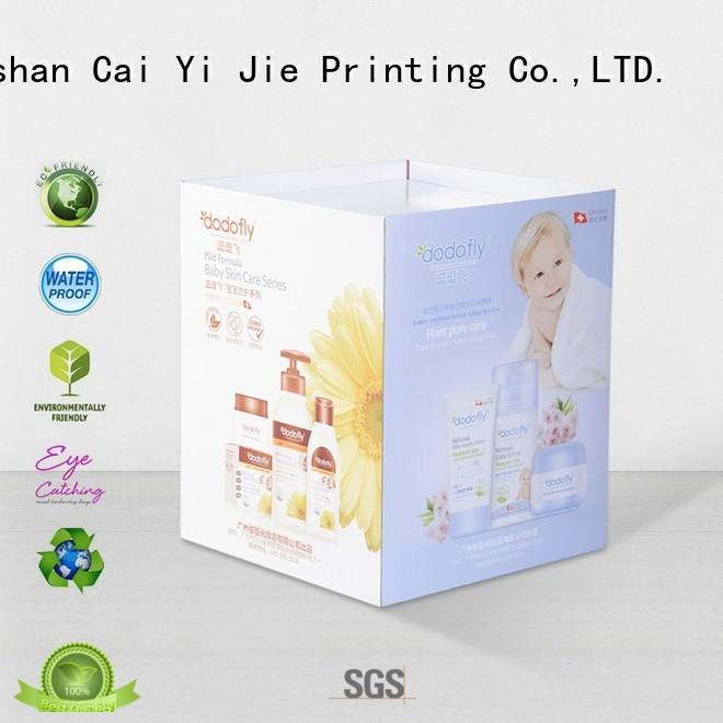 CAI YI JIE cardboard dump bins printing corrugated display for displays cheese