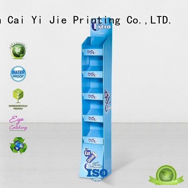 CAI YI JIE cardboard display units operation for promotion