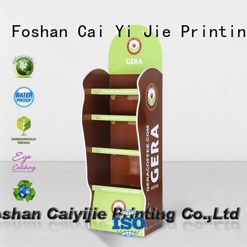 CAI YI JIE display cardboard retail display stands products for milk