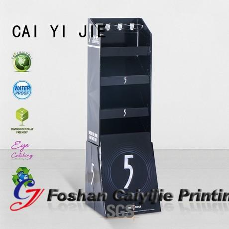 cardboard display stand singapore for phone accessories CAI YI JIE