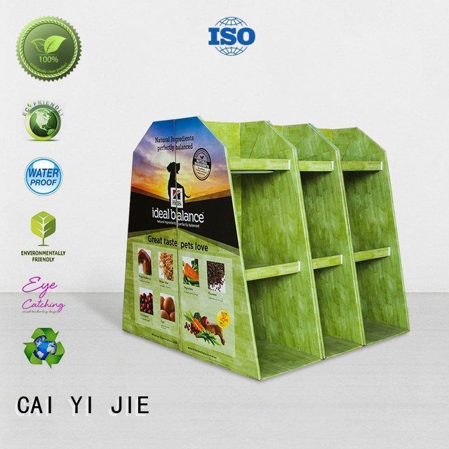 mobile sales cardboard pallet display CAI YI JIE