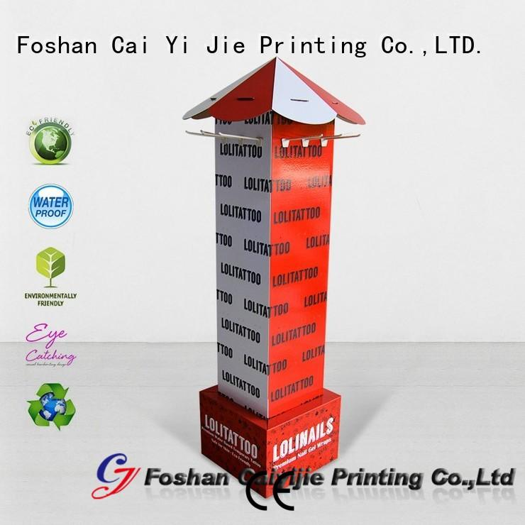 full color free standing display units cardboard wholesale for supermarket
